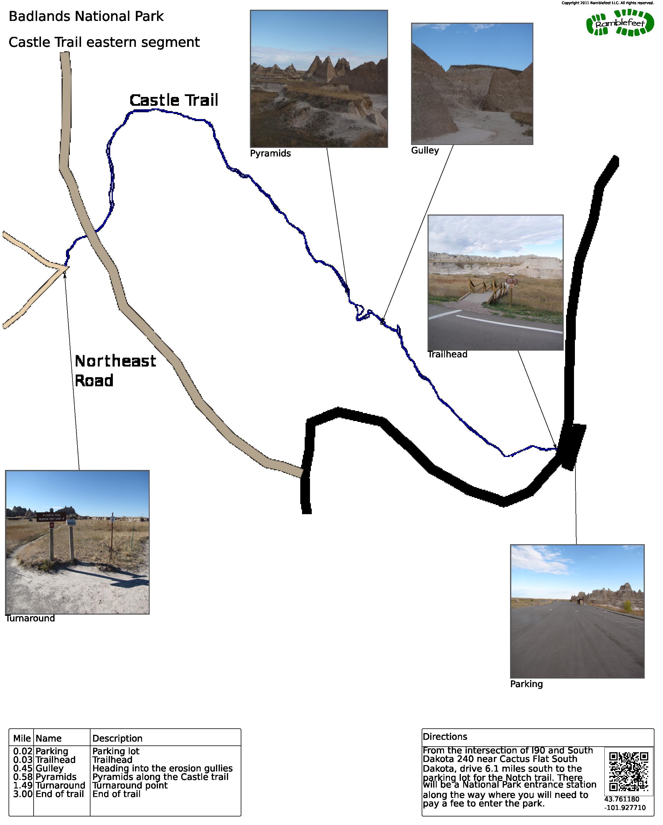 Badlands National Park Castle Trail eastern segment