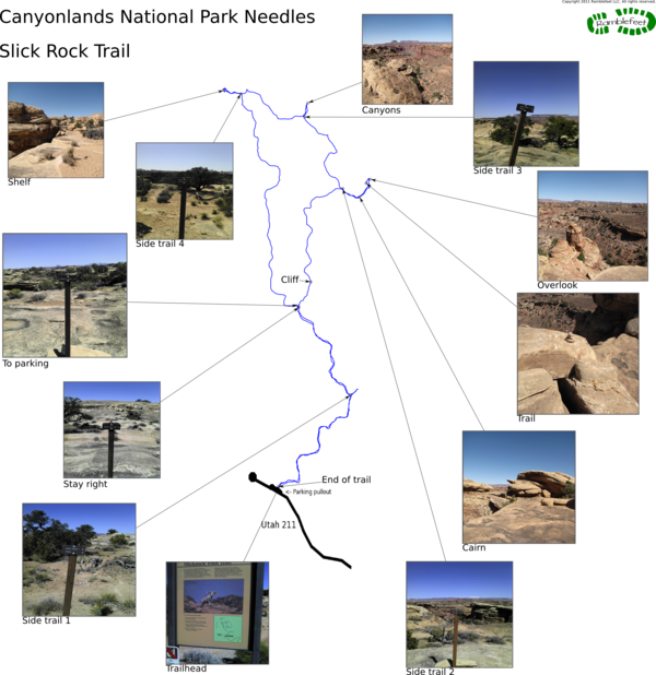 Canyonlands National Park Needles Slick Rock Trail
