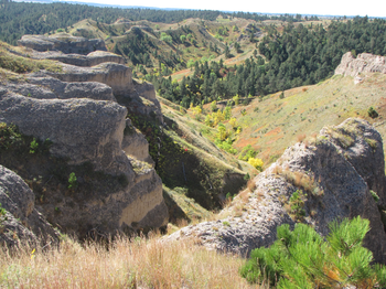 Chadron State Park, Cabin Trail and Black Hills Overlook Loop on