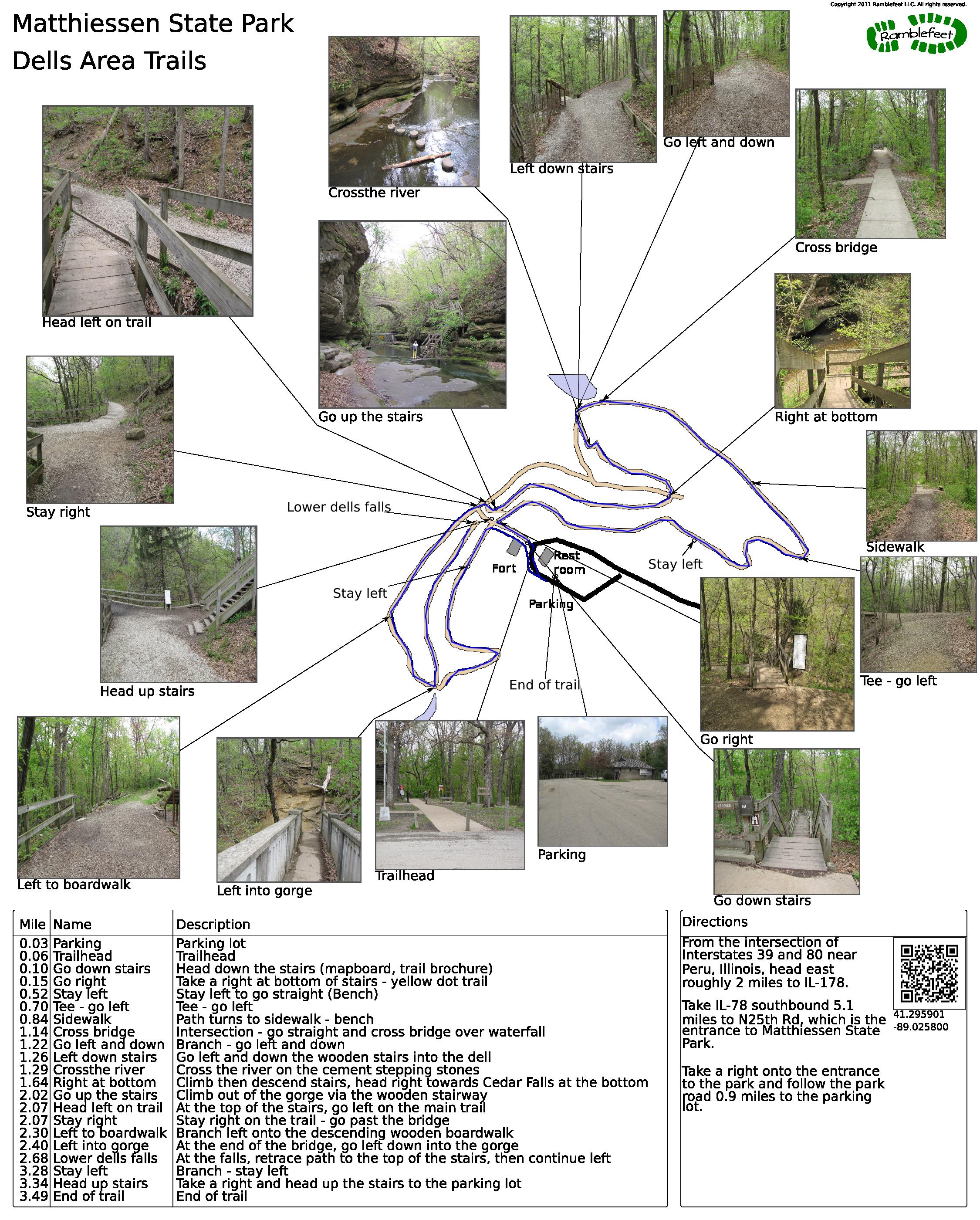 State Parks Illinois Map.Matthiessen State Park Dells Area Trails